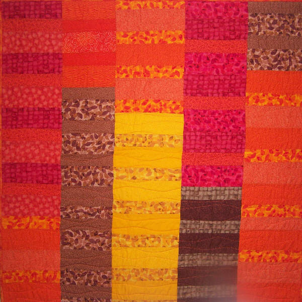 Colour Block Quilt in Orange